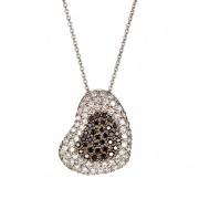 Μενταγιόν με Διαμάντια Λευκόχρυσος K18 - 10008BL