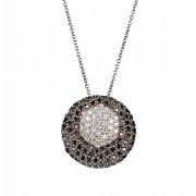 Μενταγιόν με Διαμάντια Λευκόχρυσος Κ18 - 10010BL