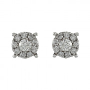 Σκουλαρίκια με Διαμάντια Λευκόχρυσος Κ18 - 10069E