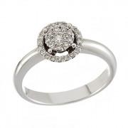 Δαχτυλίδι με Διαμάντια Λευκόχρυσος Κ18 - 10070