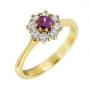 Δαχτυλίδι με Διαμάντια και Ορυκτή Πέτρα Χρυσός Κ18 - 07283Y