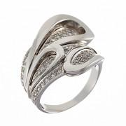 Δαχτυλίδι με Ζιργκόν Λευκόχρυσος Κ14 - 07191