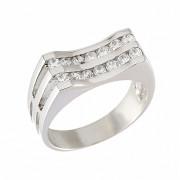 Δαχτυλίδι με Ζιργκόν Λευκόχρυσος Κ14 - 08023
