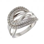 Δαχτυλίδι με Ζιργκόν Λευκόχρυσος Κ14 - 08236