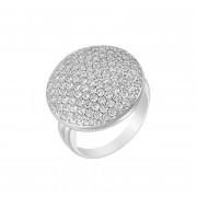 Δαχτυλίδι με Ζιργκόν Λευκόχρυσος Κ14 - 10021