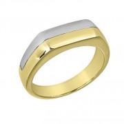 Δαχτυλίδι Ανδρικό Δίχρωμο Κ14 - 90103