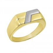 Δαχτυλίδι Ανδρικό Δίχρωμο Κ14 - 90206