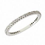 Δαχτυλίδι Ολόβερο με Διαμάντια Λευκόχρυσος Κ18 - 11053