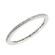 Δαχτυλίδι Ολόβερο με Διαμάντια Λευκόχρυσος Κ18 - 11055