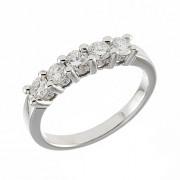 Δαχτυλίδι Μισόβερο με Διαμάντια Λευκόχρυσος Κ18 - 11373