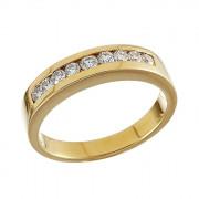 Δαχτυλίδι Μισόβερο με Διαμάντια Χρυσός Κ18 - 90119