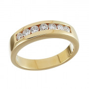Δαχτυλίδι Μισόβερο με Διαμάντια Χρυσός Κ18 - 903121R