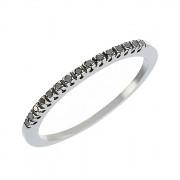 Δαχτυλίδι Μισόβερο με Μαύρα Διαμάντια Λευκόχρυσος Κ18 - 91151BL