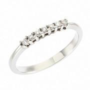 Δαχτυλίδι Μισόβερο με Διαμάντια Λευκόχρυσος Κ18 - 91187