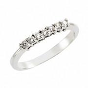 Δαχτυλίδι Μισόβερο με Διαμάντια Λευκόχρυσος Κ18 - 91188
