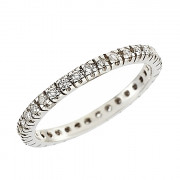 Δαχτυλίδι Ολόβερο με Ζιργκόν Λευκόχρυσος Κ14 - 91219