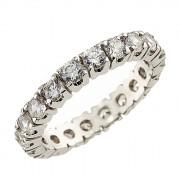 Δαχτυλίδι Ολόβερο με Ζιργκόν Λευκόχρυσος Κ14 - 92104