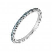 Δαχτυλίδι Ολόβερο με Μπλέ Διαμάντια Λευκόχρυσος Κ18 - 11000BLUE