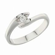 Δαχτυλίδι Μονόπετρο με Διαμάντι Λευκόχρυσος Κ18 - 91235