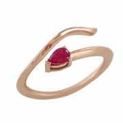Δαχτυλίδι Chevalier με Ορυκτή Πέτρα Ροζ Χρυσός Κ14 - 16014PRU
