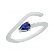 Δαχτυλίδι Chevalier με Ορυκτή Πέτρα Λευκόχρυσος Κ14 - 16014WSA