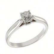 Δαχτυλίδι Μονόπετρο με Διαμάντι Λευκόχρυσος Κ18 - 11028.4R