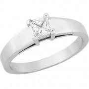 Δαχτυλίδι Μονόπετρο με Διαμάντι Λευκόχρυσος Κ18 - 16038