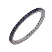 Δαχτυλίδι Ολόβερο με Μπλέ Ζιργκόν Λευκόχρυσος Κ9 - 16061