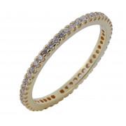 Δαχτυλίδι Ολόβερο με Ζιργκόν Χρυσός Κ14 - 1105322