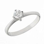 Δαχτυλίδι Μονόπετρο με Διαμάντι Λευκόχρυσος Κ18 - 06268