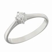 Δαχτυλίδι Μονόπετρο με Διαμάντι Λευκόχρυσος Κ18 - 06269