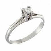 Δαχτυλίδι Μονόπετρο με Διαμάντι Λευκόχρυσος Κ18 - 06399