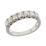 Δαχτυλίδι Μισόβερο με Διαμάντια Λευκόχρυσος Κ18 - 070017R