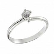 Δαχτυλίδι Μονόπετρο με Διαμάντι Λευκόχρυσος Κ18 - 070041R