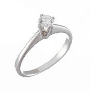 Δαχτυλίδι Μονόπετρο με Διαμάντι Λευκόχρυσος Κ18 - 07008