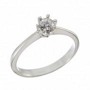 Δαχτυλίδι Μονόπετρο με Διαμάντι Λευκόχρυσος Κ18 - 07010