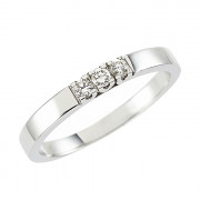 Δαχτυλίδι Μισόβερο με Διαμάντια Λευκόχρυσος Κ18 - 070443R