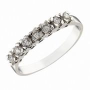 Δαχτυλίδι Μισόβερο με Ζιργκόν Λευκόχρυσος Κ14 - 07129