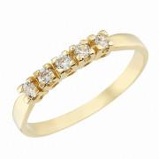 Δαχτυλίδι Μισόβερο με Ζιργκόν Χρυσός Κ14 - 07130