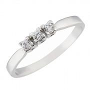 Δαχτυλίδι Μισόβερο με Ζιργκόν Λευκόχρυσος Κ14 - 07131