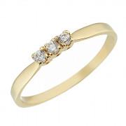 Δαχτυλίδι Μισόβερο με Ζιργκόν Χρυσός Κ14 - 07134Y