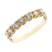 Δαχτυλίδι Μισόβερο με Ζιργκόν Χρυσός Κ14 - 07144Y