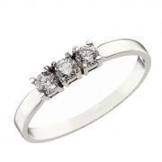 Δαχτυλίδι Μισόβερο με Ζιργκόν Λευκόχρυσος Κ14 - 07146