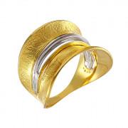 Δαχτυλίδι Δίχρωμο Κ14 - 08316