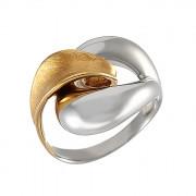 Δαχτυλίδι Δίχρωμο Κ14 - 08320