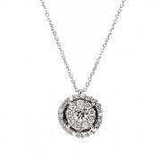 Μενταγιόν με Διαμάντια Λευκόχρυσος Κ18 - 10071P