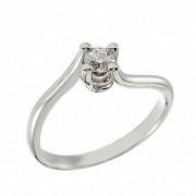 Δαχτυλίδι Μονόπετρο με Διαμάντι Λευκόχρυσος Κ18 - 11038