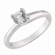 Δαχτυλίδι Μονόπετρο με Ζιργκόν Λευκόχρυσος Κ14 - 92064