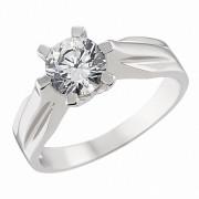 Δαχτυλίδι Μονόπετρο με Ζιργκόν Λευκόχρυσος Κ14 - 92220