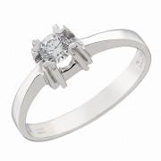 Δαχτυλίδι Μονόπετρο με Ζιργκόν Λευκόχρυσος Κ14 - 92281